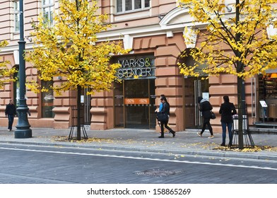 VILNIUS, LITHUANIA - OCTOBER 14: MARKS&SPENCER store on October 14, 2013 in Vilnius, Lithuania.