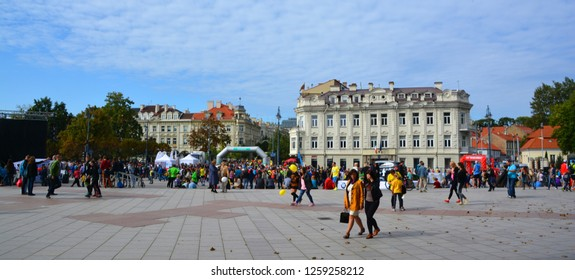 VILNIUS LITHUANIA SEPTEMBER 14 2015: Embassy of Ireland in Lithuania. Irish Embassy in Vilnius runs an inclusive range of consular services to local, Irish, and international citizens in Lithuania.