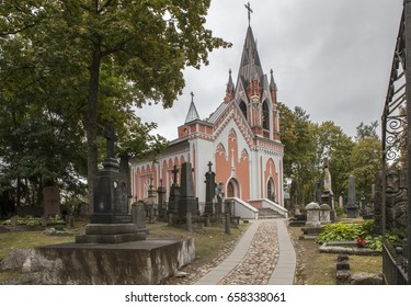 VILNIUS, LITHUANIA -SEPTEMBER 14, 2016: Rasos Cemetery is the oldest and most famous cemetery in the city of Vilnius, Lithuania. It is named after the Rasos district where it is located.
