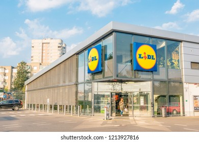 Vilnius, Lithuania- September 21, 2018: Lidl Supermarket store in Vilnius, Lithuania. Lidl is a German discount supermarket chain