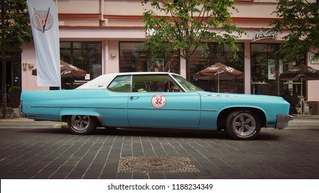 VILNIUS, LITHUANIA-JUNE 10, 2017: 1972 Buick Electra 225 Limited 2dr Hard Top at the city streets.
