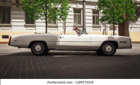VILNIUS, LITHUANIA-JUNE 10, 2017: 1978 Cadillac Eldorado Biarritz (Seventh generation) at the city streets.
