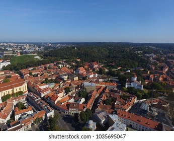 Vilnius old town drone photo - Vilnius drone view - Travel Lithuania