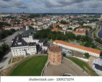 Vilnius Old Town drone picture - Vilnius from the birds eye view - Lithuanian capital city