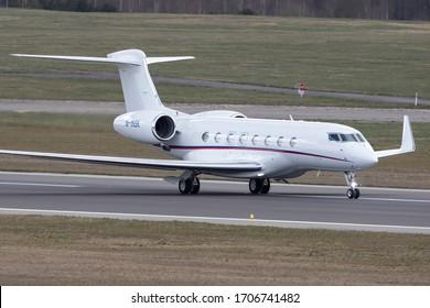 Vilnius/Lithuania April 17, 2020 M-INSK Private Gulfstream Aerospace G-VI Gulfstream G650