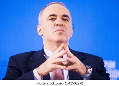 Vilnius/Lithuania February 12, 2015 Garry Kasparov, former World Chess Champion, now political activist and radical opponent to Putin's regime