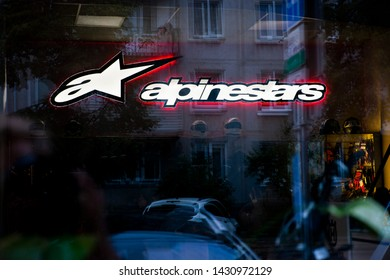 Vilnius/Lithuania June 22, 2019 Alpinestars is a manufacturer of clothing and protective gear for motorsports and action sports founded in 1963, and located in Asolo, Italy.