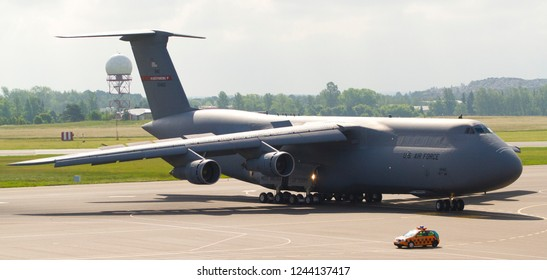 Vilnius/Lithuania June 4, 2015 C5-M Super Galaxy from USA Airforce