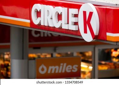 Vilnius/Lithuania March 10, 2019 Circle K Gas Station