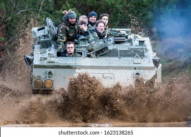 Vilnius/Lithuania March 12, 2019 The FV432 is the armoured personnel carrier variant of the British Army's FV430 series of armoured fighting vehicles.
