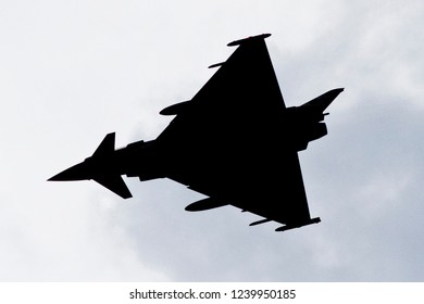 Vilnius/Lithuania March 20, 2015 Eurofighter Typhoon Silhouette