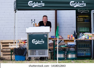 Vilnius/Lithuania March 20, 2019 Carlsberg logo. The Carlsberg Group is a Danish brewing company founded in 1847 by J.C. Jacobsen with headquarters located in Copenhagen, Denmark