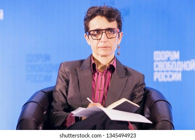 Vilnius/Lithuania March 20, 2019  Masha Gessen is a Russian-American journalist, author, and activist