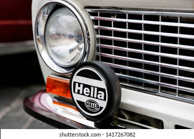 Vilnius/Lithuania May 26, 2019  Hella KGaA Hueck & Co. (stylized as HELLA) is an internationally operating German automotive part.