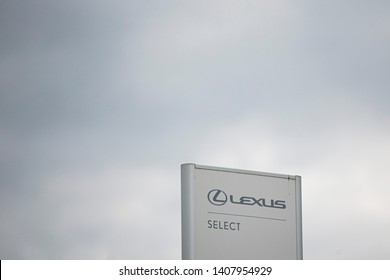 Vilnius/Lithuania May 26, 2019 Lexus logo. Lexus is the luxury vehicle division of Japanese automaker Toyota. The Lexus marque is marketed in over 70 countries and territories worldwide.