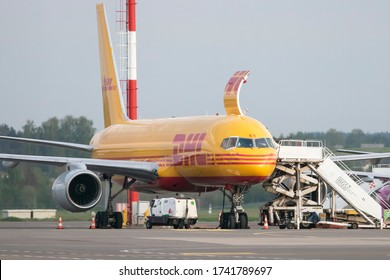 Vilnius/Lithuania May 27, 2020 G-DHKB DHL AIR BOEING 757-200(F)