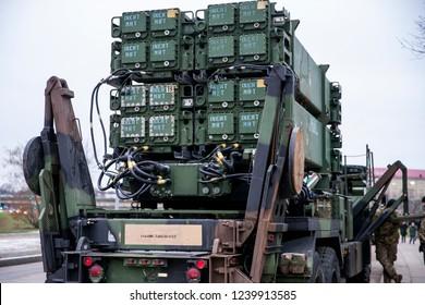 Vilnius/Lithuania November 23, 2018 MIM-104 Patriot surface-to-air missile (SAM) system