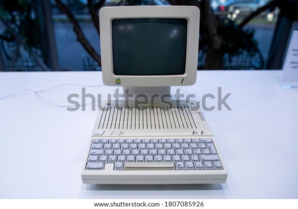 Vilnius/Lithuania September 1, 2020 The Apple IIc, the fourth model in the Apple II series of personal computers, is Apple Computer's first endeavor to produce a portable computer.