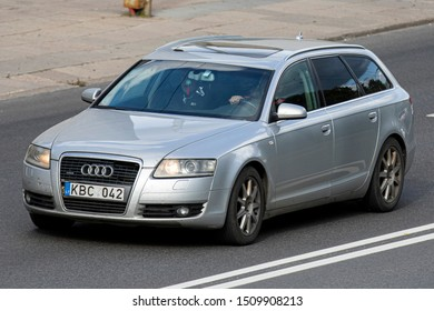 Vilnius/Lithuania September 16, 2019 Audi a6 Quattro (C6) avant  The Audi A6 is an executive mid-size car made by the German automaker Audi AG.