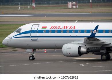 Vilnius/Lithuania September 2, 2020 Belavia Embraer ERJ-175LR (ERJ-170-200 LR) (Reg: EW-340PO)