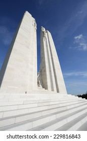 VIMY, FRANCE - NOVEMBER 11, 2014: Memorial of Vimy in France. Memorial to the first world war