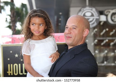 Vin Diesel and daughter at the Vin Diesel Star on the Hollywood Walk of Fame Ceremony, Hollywood, CA 08-26-13