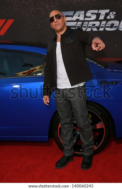 """Vin Diesel at the """"Fast And Furious 6"""" Los Angeles Premiere, Gibson Amphitheatre, Universal City, CA  05-21-13"""