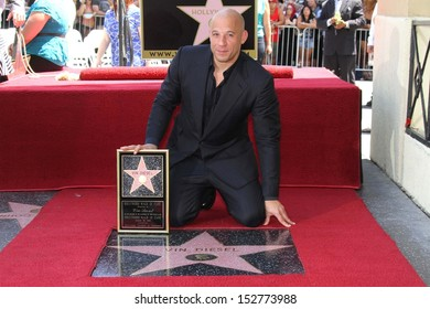 Vin Diesel at the Vin Diesel Star on the Hollywood Walk of Fame Ceremony, Hollywood, CA 08-26-13