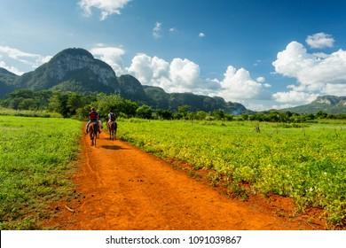 Vinales, Cuba. Horse riding