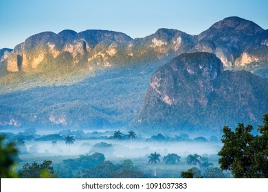 Vinales Valley at sunset, Cuba