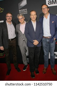 "Vince Gilligan, Peter Gould, Bob Odenkirk, Charlie Collier arrive at the AMC's ""Better Call Saul"" season 4 premiere at the UA Horton Plaza 8 during 2018 SDCC on July 19, 2018 in San Diego, CA."