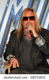 Vince Neil at the KISS & Motley Crue Press Conference, Roosevelt Hotel, Hollywood, CA 03-20-12