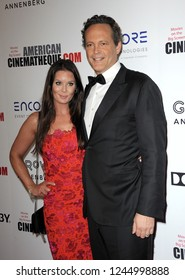 Vince Vaughn and Kyla Vaughn at the 32nd American Cinematheque Award Presentation Honoring Bradley Cooper held at the Beverly Hilton Hotel in Beverly Hills, USA on November 29, 2018.