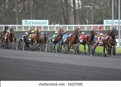 VINCENNES - FRANCE - JAN 28 :  Prix d'Amérique, Vincennes, 2007 http://www.prix-amerique.com/ http://www.pbase.com/isogood/prix_amerique_2007&page=all