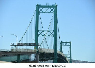 Vincent Thomas Bridge in Long Beach, California