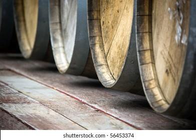 vine barrels , facility background