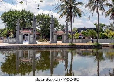 Vinh Phuc, Vietnam, June 16 2016. The ancient temple, countryside, Thanh Ha, Hai Duong, Vietnam
