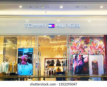 Vinhomes, Ho Chi Minh city, Vietnam / March 23, 2019: Photo of Tommy Hilfiger fashion store. It is  an American premium clothing company, manufacturing apparel, footwear, accessories..