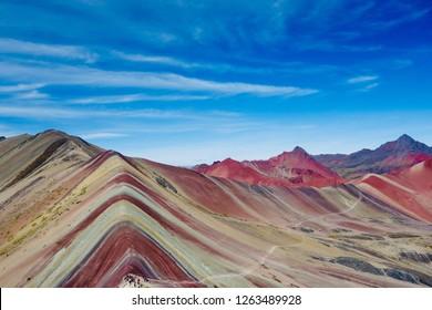 Vinicunca, Cusco Region, Peru. Montana de Siete Colores, or Rainbow Mountain