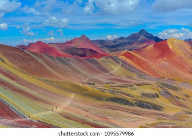 Vinicunca, also known as Rainbow Mountain, near Cusco, Peru