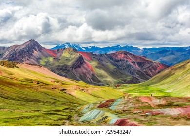 Vinicunca, Montana de Siete Colores or Rainbow Mountain, Pitumarca, Peru