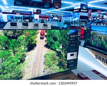 Vinmart, Vinhomes Central Park, October 2018:  Exterior view of eletronic department store in mall on October 2018. It is owned by Vingroup for selling electronic merchandises.