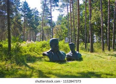 "Vinnitsa, Ukraine - August 4, 2018: Werwolf (Stavka of Adolf Hitler. Nowadays Historical and memorial complex of victims of Nazism"" near Vinnitsa"