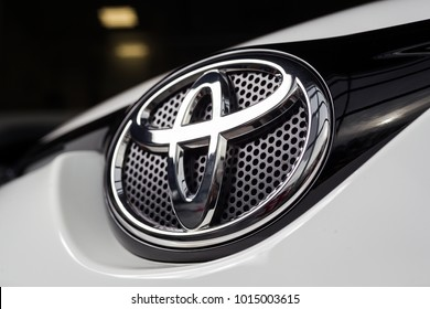 Vinnitsa, Ukraine - January 10, 2018. Toyota RAV 4 concept car - logo