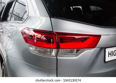 Vinnitsa, Ukraine - January 10, 2018. Toyota Highlander concept car - taillight
