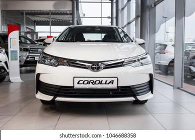 Vinnitsa, Ukraine - January 10, 2018. Toyota Corolla concept car - front view