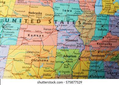 Vinnitsa, Ukraine - January 15 , 2017: US Map