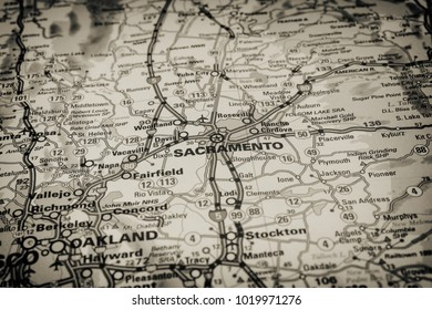 Vinnitsa, Ukraine - January 15 , 2017:San Francisco  on the map