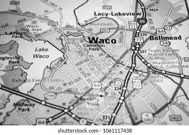 Vinnitsa, Ukraine - January 18 , 2017:  Waco, United States map