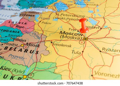 Map Russia Pin Set On Moscow Stock Photo (Edit Now) 403932814 ...